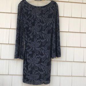 Black / gray shimmery mid length dress by Laundry